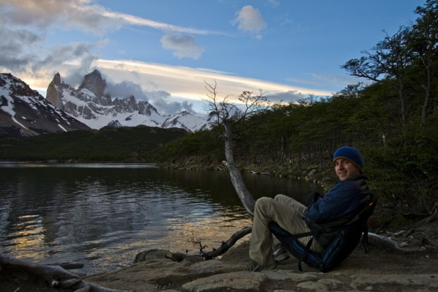 William on the trail, Chile